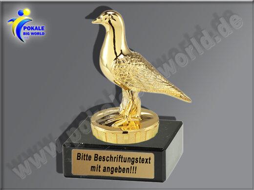 Taube, Brieftaube, Taubenzucht-Mini-Pokal, Gold, 10x7 cm