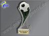 Fußball-Resin-Pokal, Multicolor (handbemalt), 19,5x5,5 cm