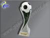 Fußball-Resin-Pokal, Multicolor (handbemalt), 27x6,7 cm