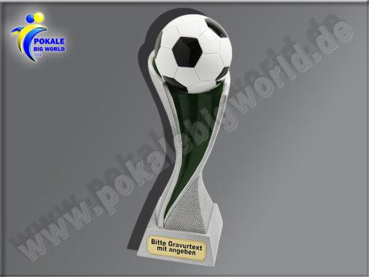 Fußball-Resin-Pokal, Multicolor (handbemalt), 30x7,7 cm