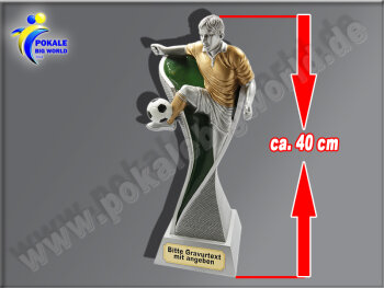 Fußballer mit Ball beim Schuß...
