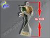 "Fußballer mit Ball beim Schuß ""XL""-Resin-Pokal, Multicolor (handbemalt), 40 x 10,3 cm"