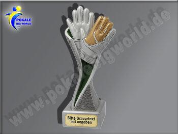 Torwart-Handschuhe-Resin-Pokal, Multicolor (handbemalt),...