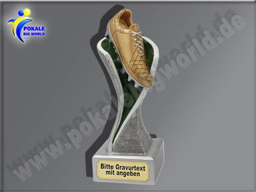 Fußballschuh-Resin-Pokal, Multicolor (handbemalt), 14,5x5,1 cm