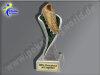 Fußballschuh-Resin-Pokal, Multicolor (handbemalt), 19,5x5,5 cm