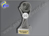2. Platz (Zahl 2)-Resin-Pokal, Silber, 17x5,3 cm