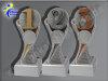 3er 1.-3. Platz (Zahl 1, Zahl2 u. Zahl 3), Resin-Pokalserie, Gold, Silber, Bronze, 14,5x5,1-17x5,3 u. 19,5x55 cm