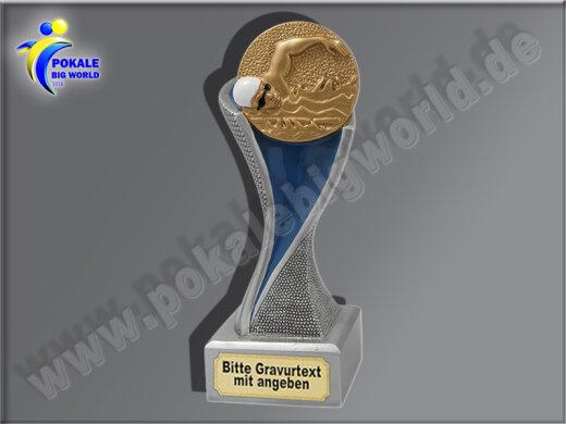 Schwimmen, Kraulen-Resin-Pokal, Gold, 14,5x5,1 cm