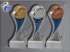 3er Schwimmen, Kraulen, Resin-Pokalserie, Gold, Silber, Bronze, 14,5x5,1-14,5x5,1 u. 14,5x5,1 cm