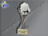 Karate-Judo-Anzug-Resin-Pokal, Silber, 14,5x5,1 cm