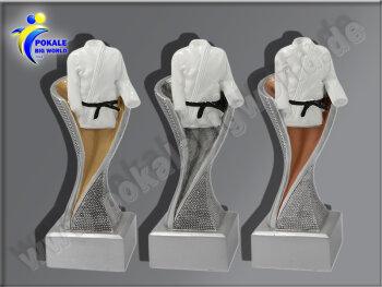 3er Karate-Judo-Anzug, Resin-Pokalserie, Gold, Silber,...