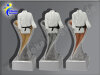 3er Karate-Judo-Anzug, Resin-Pokalserie, Gold, Silber, Bronze, 14,5x5,1-14,5x5,1 u. 14,5x5,1 cm