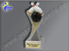 Bowling, Kegeln-Resin-Pokal, Multicolor (handbemalt), 19,5x5,5 cm
