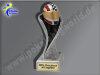 Helm, Motorsport, Motorradhelm-Resin-Pokal, Multicolor (handbemalt), 17x5,3 cm