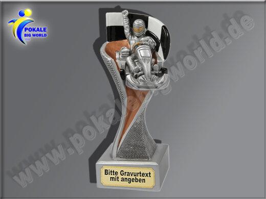 Kartfahren, Go Kart. Kart Racing-Resin-Pokal, Bronze, 14,5x5,1 cm