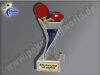 Tischtennis-Resin-Pokal, Multicolor (handbemalt), 19,5x5,5 cm