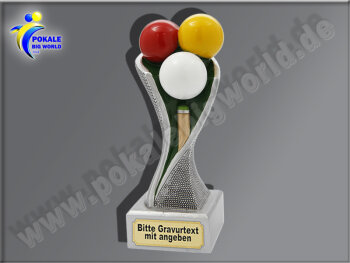 Billard, Queue-Resin-Pokal, Multicolor (handbemalt),...
