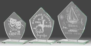 B345.0   3er Glaspokal-Serie, Transparent, mit...