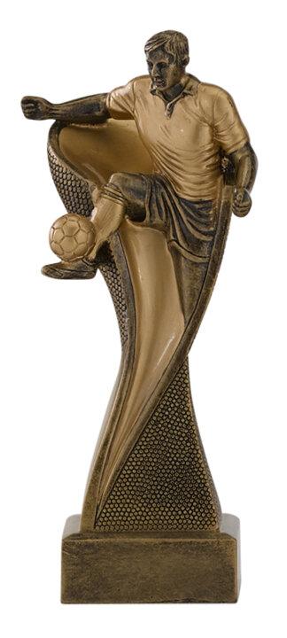 Fussball-Bester Spieler-Resin-Pokal, Silber/Gold (handbemalt), 17 cm