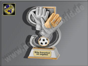 Torwart-Handschuh mit Ball-Resin-Pokal,...