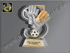 Torwart-Handschuh mit Ball-Resin-Pokal, Antik-Silber/Gold, 16,5x11 cm